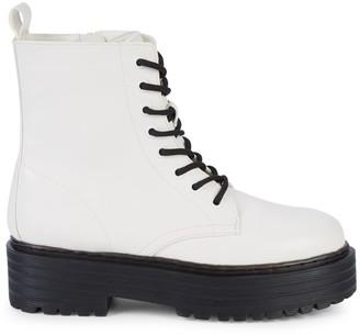 Mia Cortez Platform Combat Boots