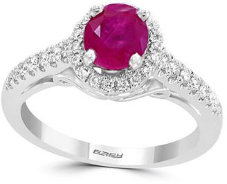 Effy Fine Jewelry 18K 1.25 Ct. Tw. Diamond & Ruby Ring