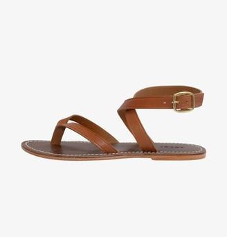 Elegant Atelier - Istanbul Tan Leather Sandals - Shoe - 39 / Cognac