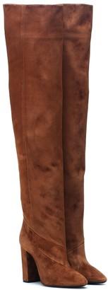 Saint Laurent Lou 100 suede boots