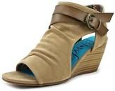 Blowfish Budha Women Open Toe Synthetic Tan Wedge Sandal.