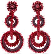 Bibi Marini - Sundrop Bead And Silk Earrings - Red