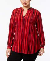 Anne Klein Plus Size Printed Tunic