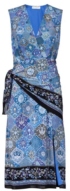 Altuzarra Sade Paisley-print Silk Wrap Dress - Womens - Blue Print