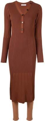 Loveless slim-fit ribbed midi dress