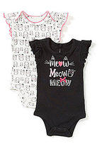 Baby Starters Baby Girls 3-12 Months Kitty Bodysuit Two-Pack