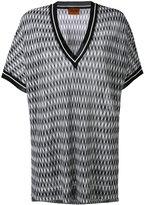 Missoni geometric shift T-shirt - women - Rayon - 40