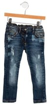 Dolce & Gabbana Girls' Distressed Skinny Jeans