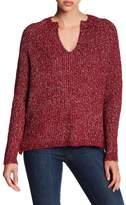 John & Jenn Long Sleeve Lace Side Sweater