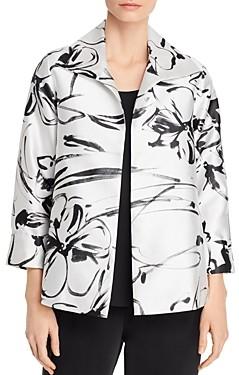 Caroline Rose Floral A-Line Jacket