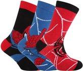 Spiderman Marvel Childrens Boys Official Patterned Socks (Pack Of 3)