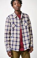 Brixton Hoffman Plaid Flannel Long Sleeve Button Up Shirt