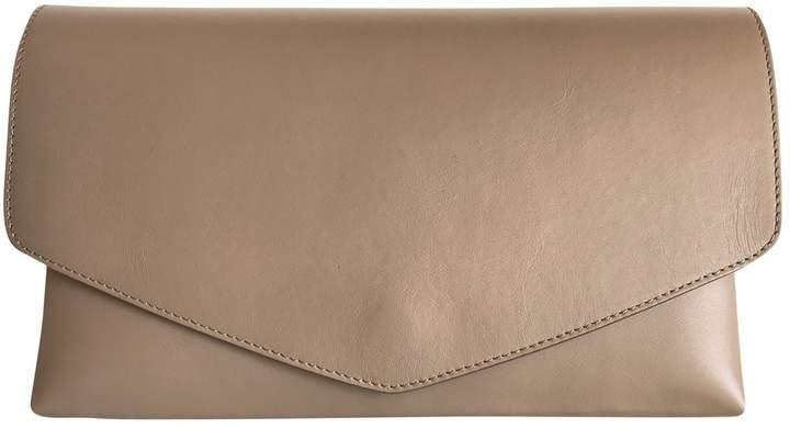 Maison Margiela Beige Leather Clutch Bag