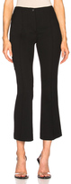 Helmut Lang Cropped Flare Pants in Black.