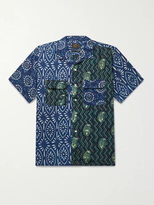 Beams Camp-Collar Printed Cotton-Poplin Shirt
