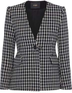 Maje Varlone Houndstooth Wool-blend Blazer