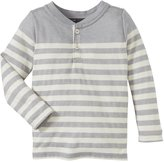 Vince Kids Breton Henley (Toddler/Kid) - Heather Steel/Grey-3