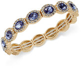 Charter Club Gold-Tone Pavé & Blue Stone Bracelet, Only at Macy's