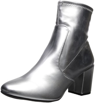 Rampage Women's Itsie Block Heel Fashion Stretch Ankle Dress Bootie Boot
