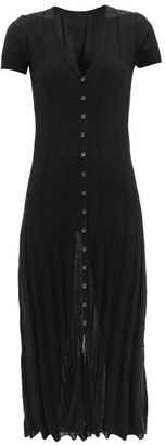 Jacquemus Ribbed Cotton-blend Knitted Midi Dress - Black