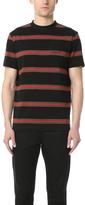 McQ Alexander McQueen Short Sleeve Striped Tee
