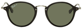 Ray-Ban Black and Silver Round Sunglasses
