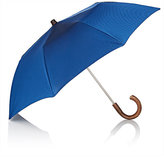 Barneys New York Men's Chevron-Pattern Folding Umbrella