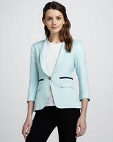 Smythe Shawl-Collar One-Button Blazer