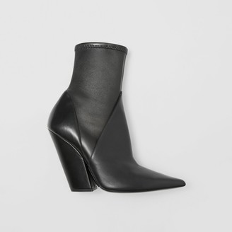 Burberry Panelled Lambskin Ankle Boots