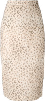 Hache leopard print skirt - women - Cotton - 40