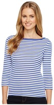 Three Dots Mykonos Stripe 3/4 Sleeve British Women's Clothing