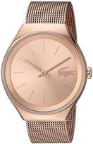 Lacoste Women's 'Valencia' Quartz and Stainless Steel Automatic Watch, Color:Gold-Toned (Model: 2000953)