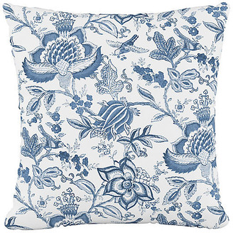 One Kings Lane Praire Cotton Pillow - Floral Blue