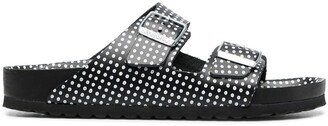 Birkenstock Polka-Dot Print Two-Strap Sandals