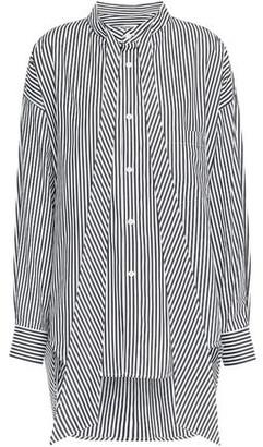 Balenciaga Tie-neck Printed Cotton-poplin Shirt
