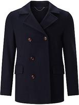 John Lewis Premium Knitted Reefer Jacket, Navy