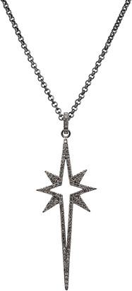 Bridget King Jewelry Large Diamond Starburst Spear Necklace