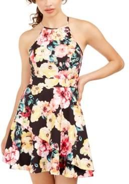 Speechless Juniors' Allover Print Dress