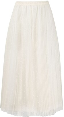 RED Valentino Point d'Esprit tulle midi skirt