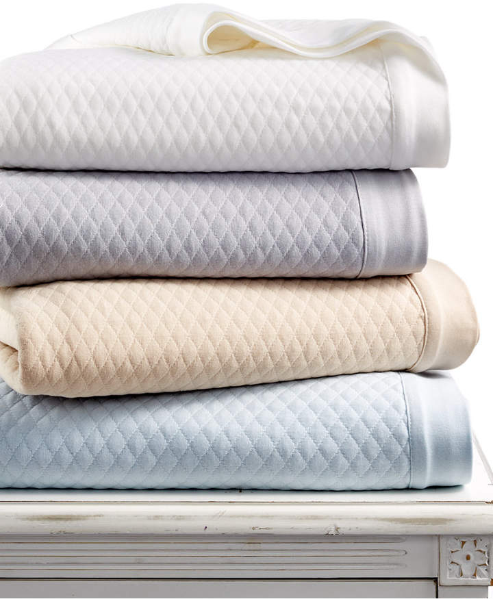 Closeout! Martha Stewart Collection Quilted Triple Knit King Blanket, Created for Macy's