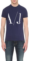 Armani Jeans Logo-print Cotton-blend T-shirt