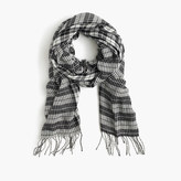 J.Crew Houndstooth scarf in Italian wool blend