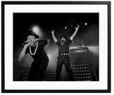 Sonic Editions Run DMC Performing on Stage (Framed)