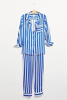 Free People Faux Silk Long-Sleeve PJ Set