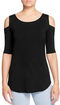 Three Dots Cold Shoulder Top - 100% Bloomingdale's Exclusive