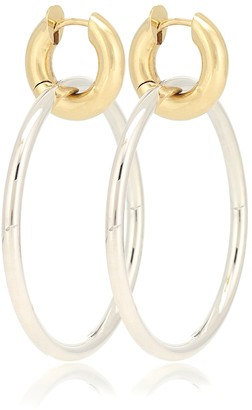 Spinelli Kilcollin Casseus SG 18kt gold and sterling silver hoop earrings