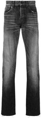 Saint Laurent Faded Straight Leg Jeans