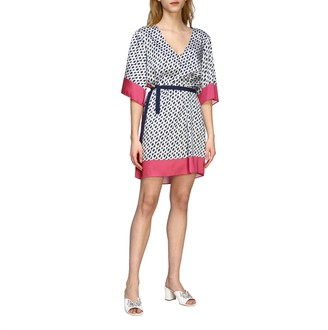 Patrizia Pepe Short Dress With Chain Print