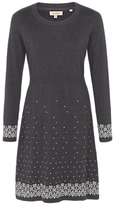 Fat Face Polly Pattern Border Knitted Dress