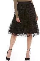 Soprano Velvet Polka-Dot Tulle Skirt